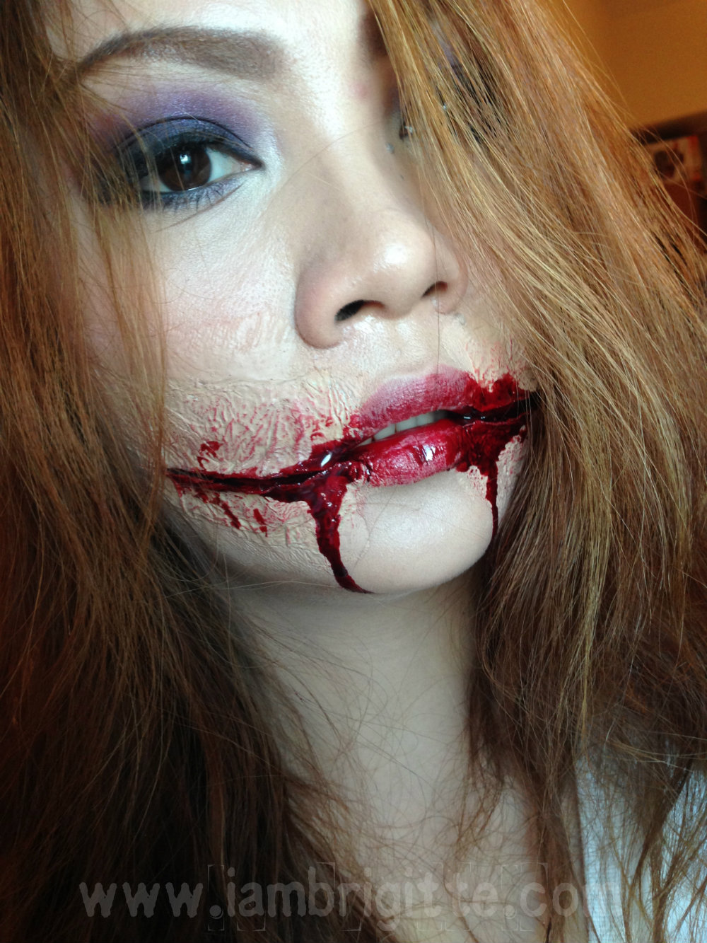... : Playing with Makeup: Chelsea Grin Halloween Makeup Look