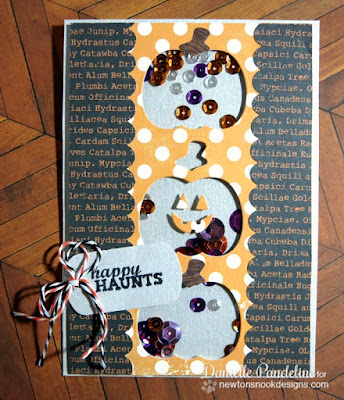 Halloween Shaker Card | Newton' s Nook Designs | Created by Danielle Pandeline