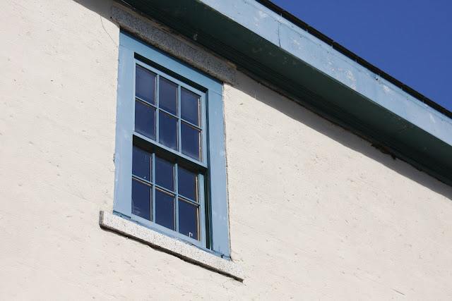 photograph of blue window