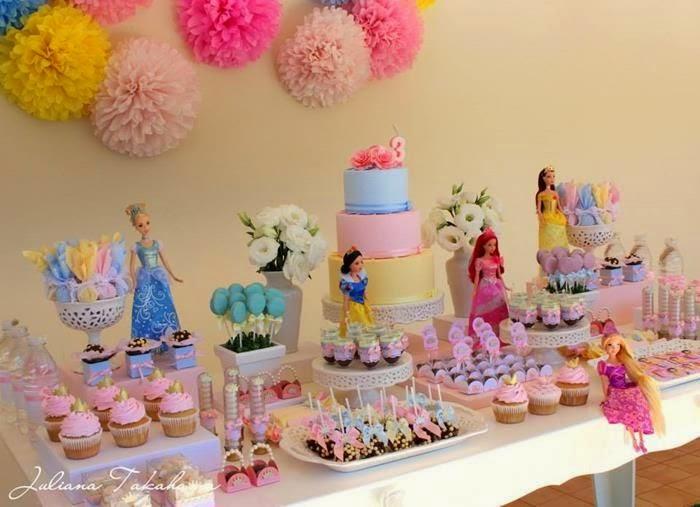 Decoración de Fiestas Infantiles de Princesas Disney : Fiestas ...