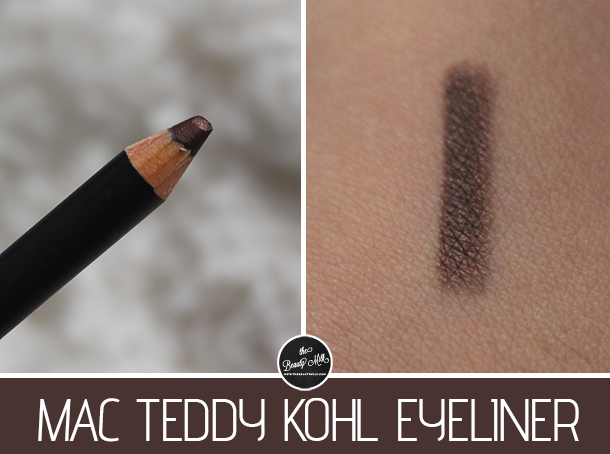 mac teddy kohl eye liner swatch review