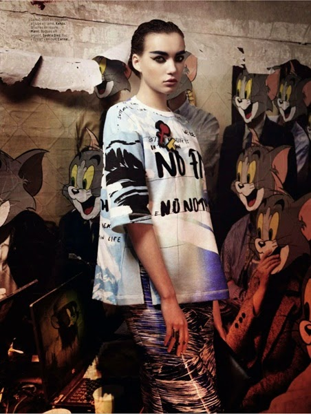 Editorial: Kenzo SS 2014 No Fish No Nothing T-Shirt