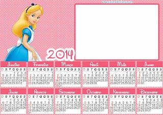 calendario 2014 alice no pais das maravilhas para imprimir