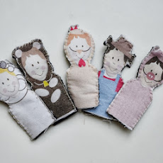 Printable FABRIC Finger Puppets