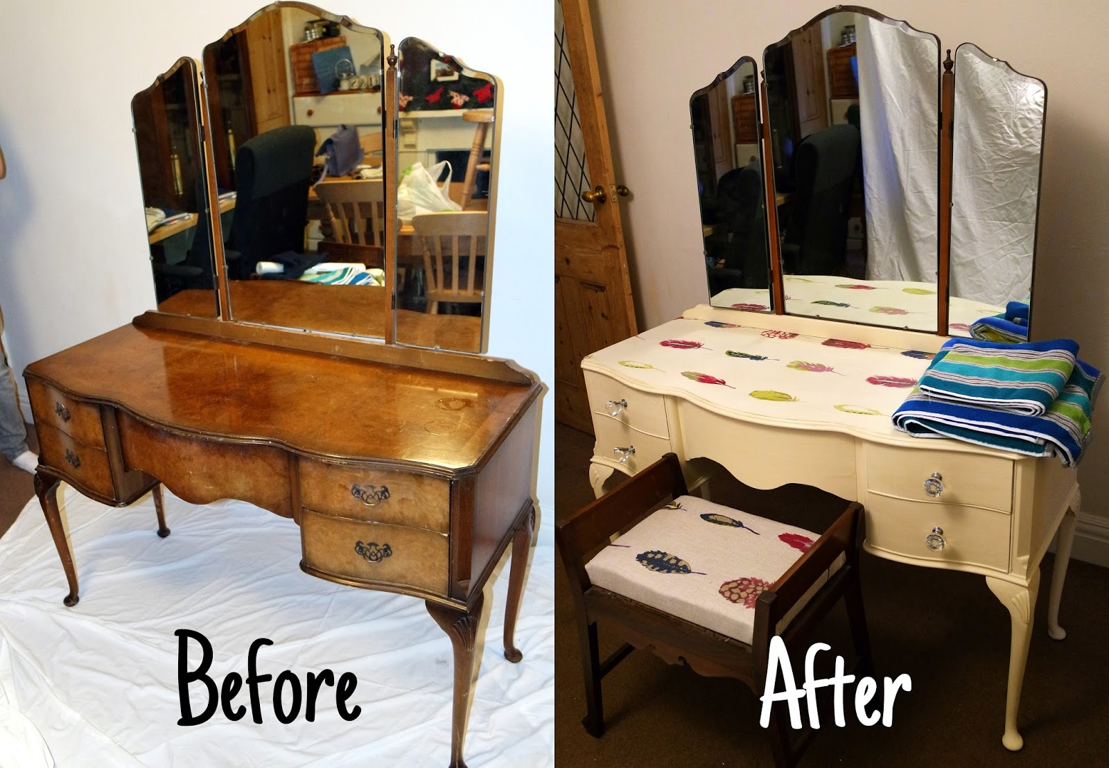 Captivating Dressing Table DIY   Wallpaper Top With #CristyCraft Challenge | Lauren  Loves Blog