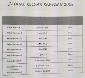 JADUAL KELUAR KAWASAN 2018