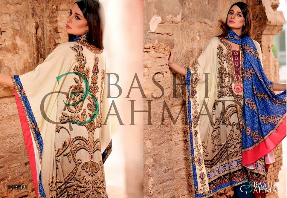 BashirAhmedLinen2013 14 wwwfashionhuntworldblogspotcom 005 - Bashir Ahmed Linen Dresses 2013 / 2014