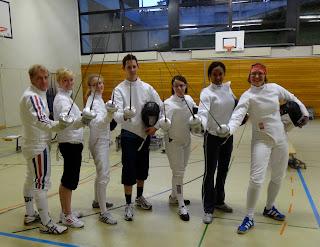 A fencing lesson at Société d'escrime de Zurich SEZ