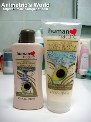 Human Nature 100% Natural Moisturizing Shampoo and Conditioner Review