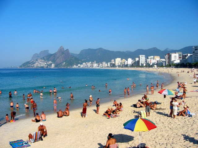 Playa de Copacabana en Rio de Janeiro