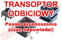Transoptor odbiciowy - Pasmo przenoszenia (czas odpowiedzi).
