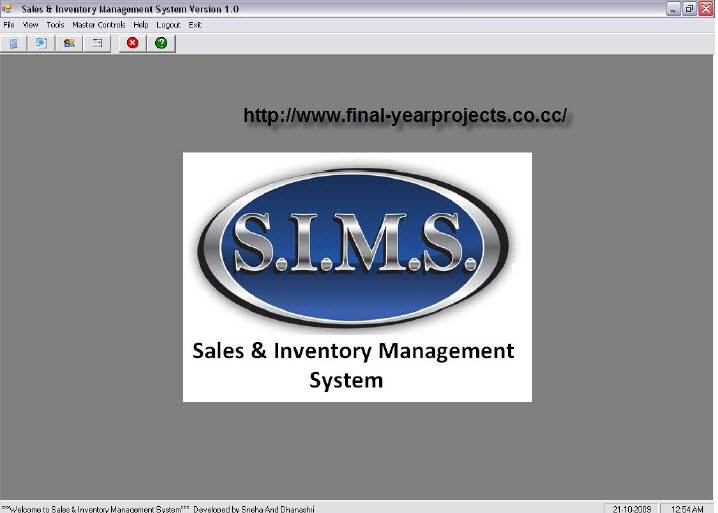 Introduction Of Thesis Sales And Inventory System