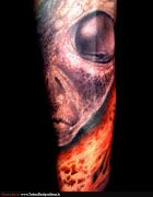 Alien Tattoo Sleeve (alien tattoos )