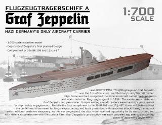 Battleships Graf Zeppelin Papercraft, Nazi Aircraft Carrier