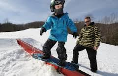 snow boarding in North Carolina