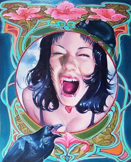 Caras Mujeres Pinturas Flores
