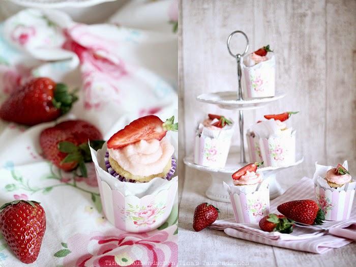 Erdbeer-Daiquri-Cupcakes