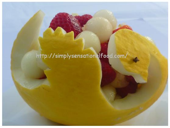 Simply food melon swan basket create n carve fruit and