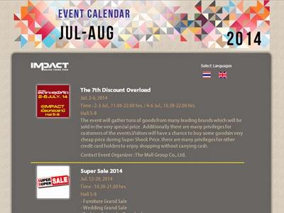 IMPACT Event Calendar