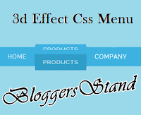 Cool 3d Effect Css Menu bar for Blogger
