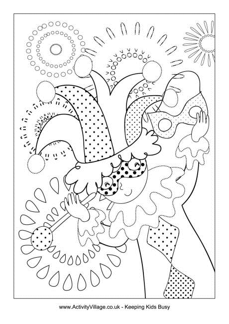 free coloring pages of jesters - photo#28