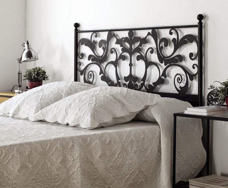 Muebles de forja cabeceros forja gama blanca for Cabeceros de forja baratos