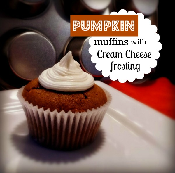 ... pumpkin muffins, cream cheese frosting, pumpkin muffin with cream