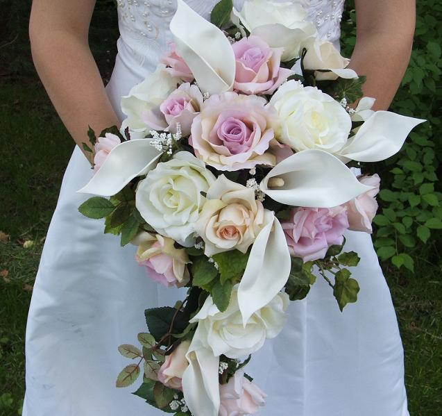 Bouquet Bridal Calla Lily And Roses