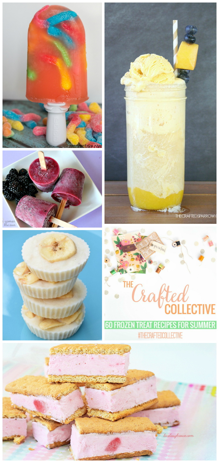 60 Frozen Treats to Beat the Heat--The perfect collection of refreshing summer sweets! www.pitterandglink.com