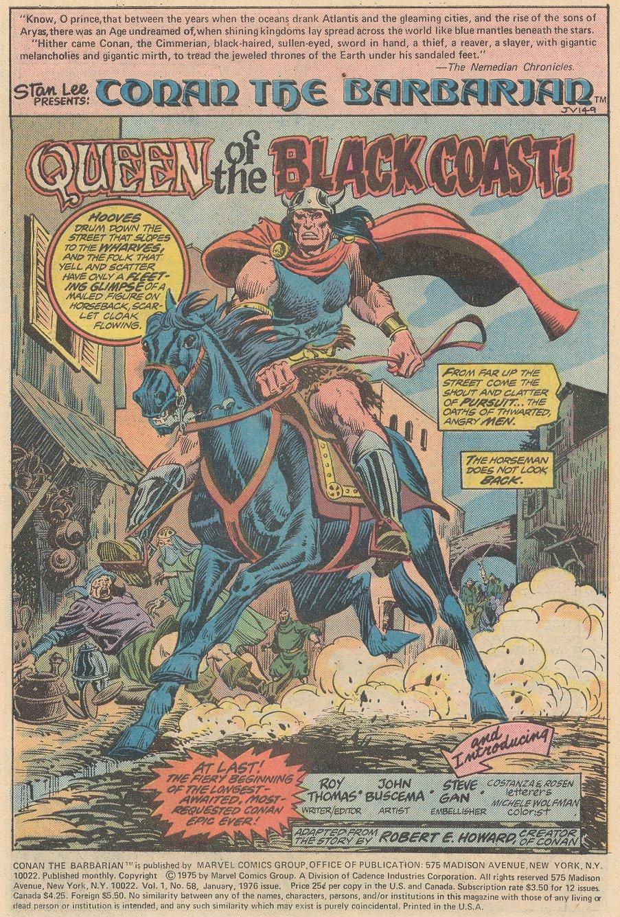 Conan the Barbarian (1970) Issue #58 #70 - English 2