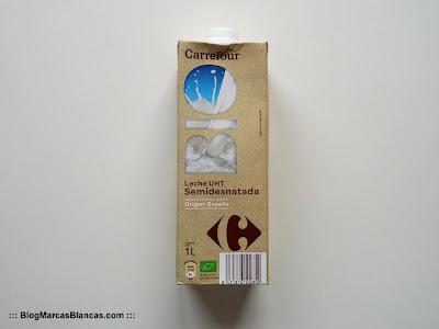 Leche semidesnatada ecológica Carrefour BIO.