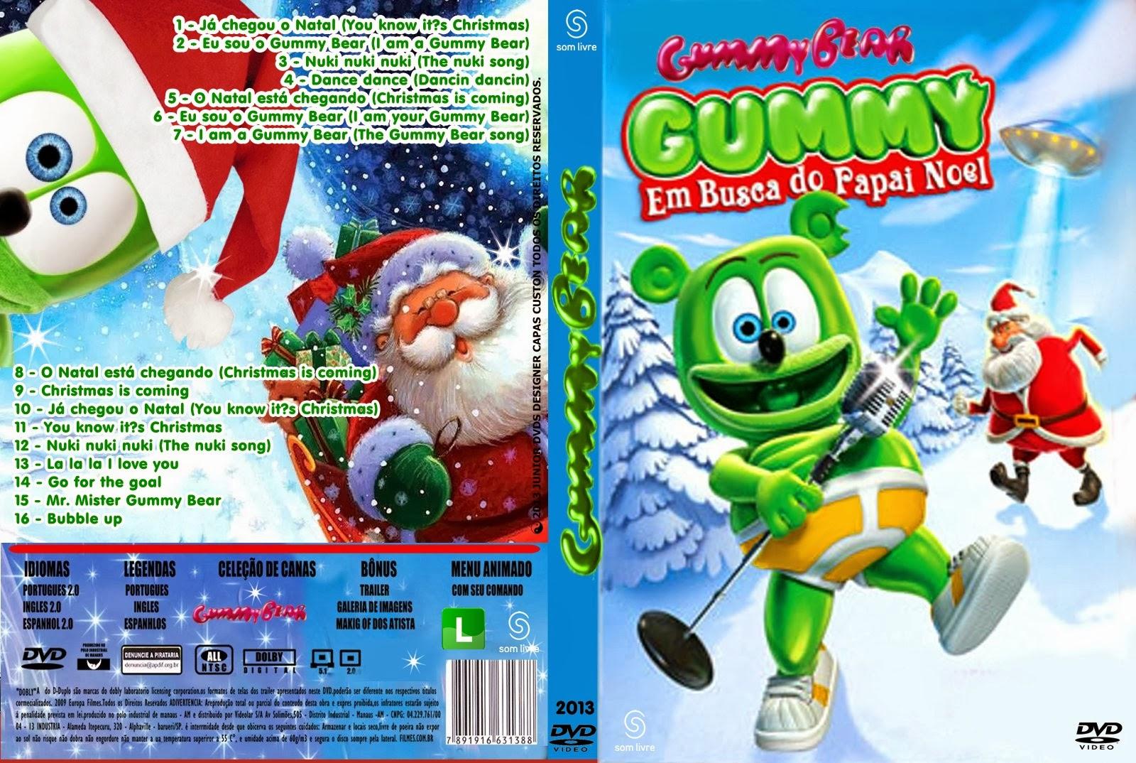 Gummy Em Busca do Papai Noel DVDRip XviD Dublado CAPA DO DVD GUMMY BEER   EM BUSCA DO PAPAI NOEL   JUNIOR DVDS DESIGNER