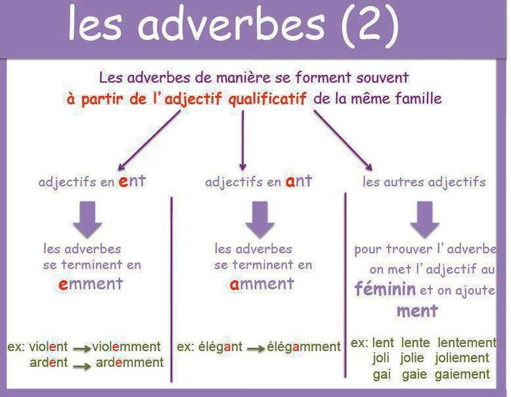 En Route Avec Andrea Les Adverbes