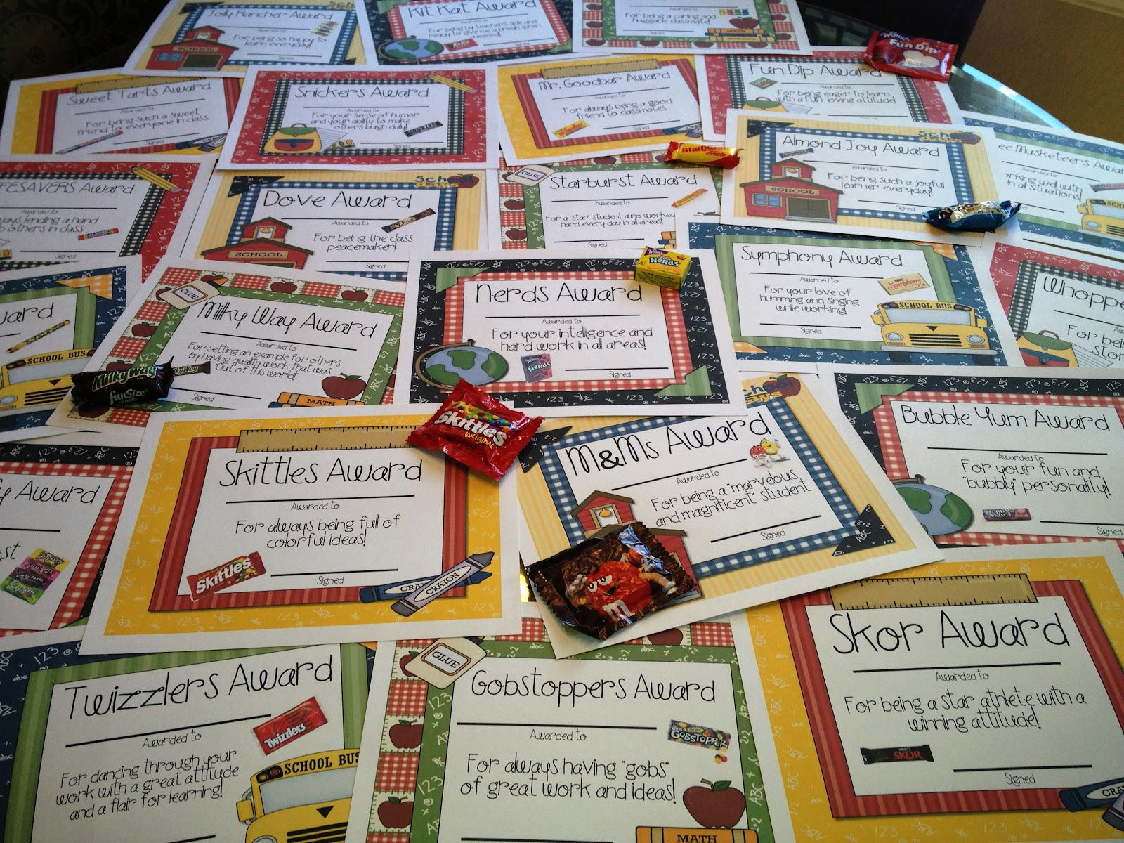 Candy Awards - Tunstall's Teaching Tidbits