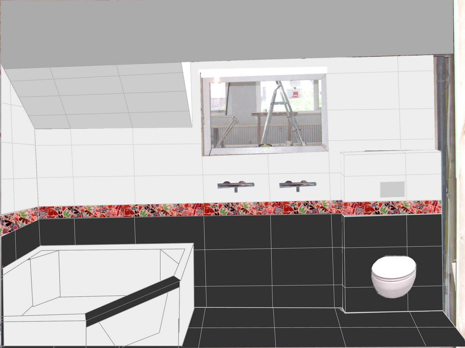 Grote Tegels Badkamer : Ziep25: de tegels in de grote badkamer