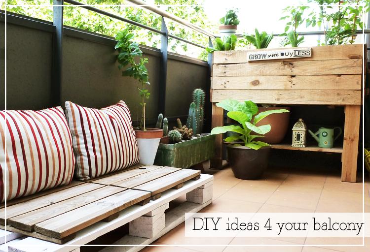 Ideas DIY para tu balcón