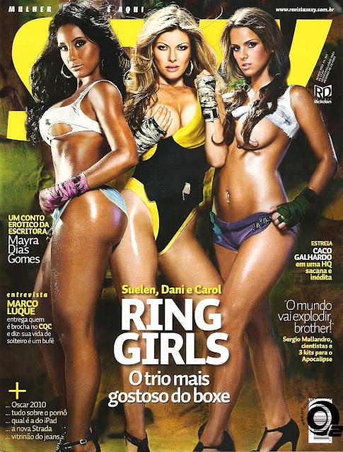 Confira as fotos das  Ring Girls, Suelen, Dani e Carol, capa da Sexy de março de 2010!