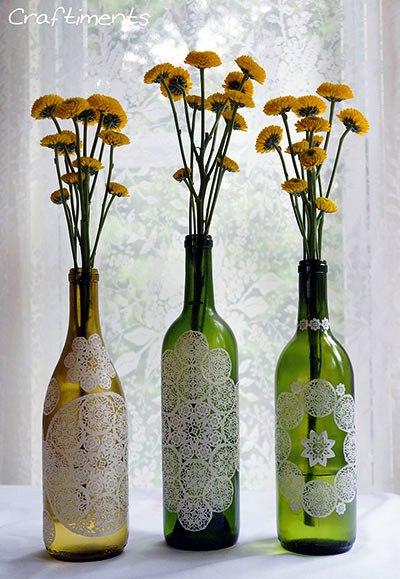 Glass bottle craft ideas projects art craft ideas - Craft ideas with wine bottles ...