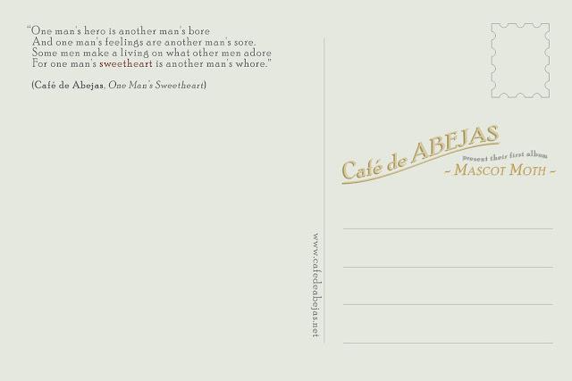 cafe de abejas vintage style postcard