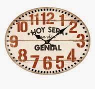 Reloj ovalado con mensaje