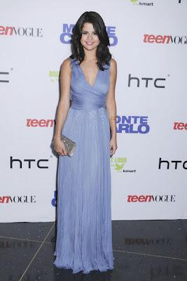 Selena Gomez Light Blue Dresses & Skirts