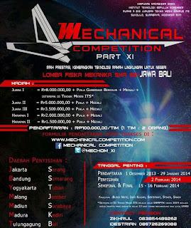 Mechanical Competition XI (Lomba Fisika Mekanika SMA se-Jawa-Bali)