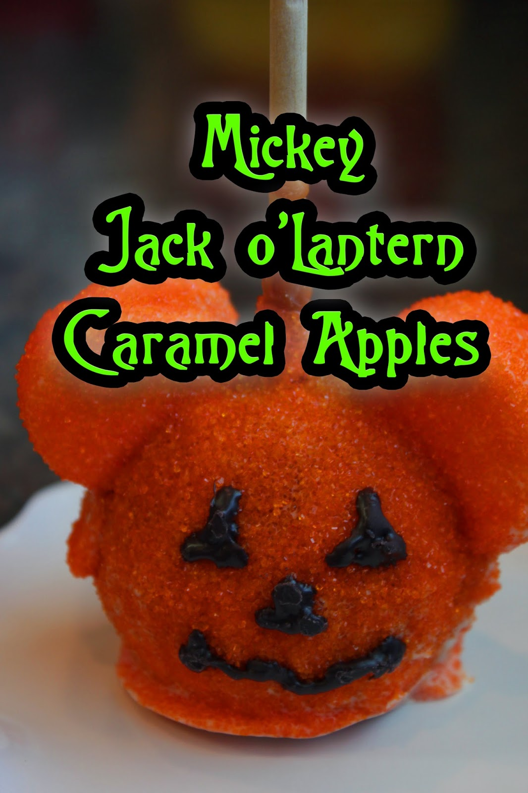 Mickey Jack OLantern Caramel Apples Recipe