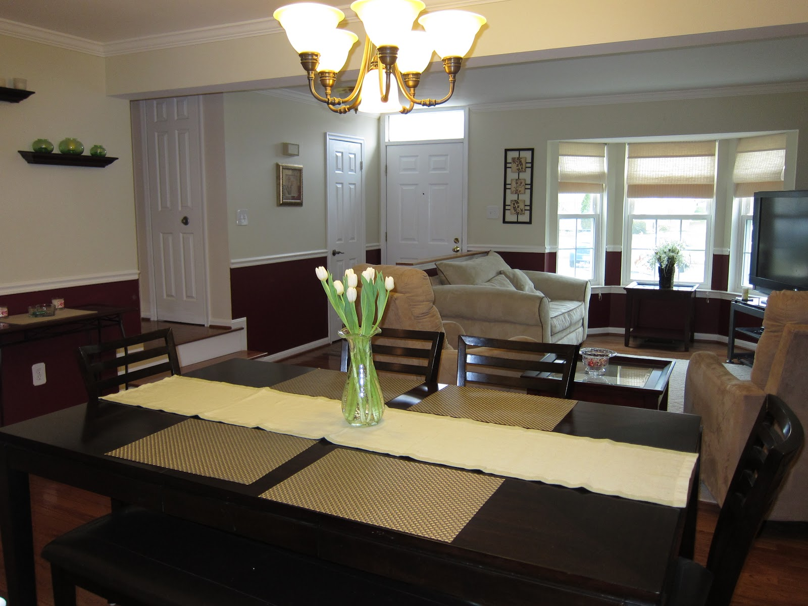 Bel air maryland townhouse for rent rent to own living for Dining room ideas for townhouse