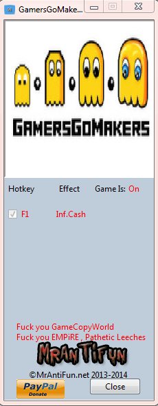 GamersGoMakers V1.00 Trainer +1 MrAntiFun