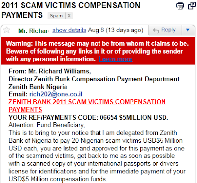 2011 Scam Victims Compensation Payments