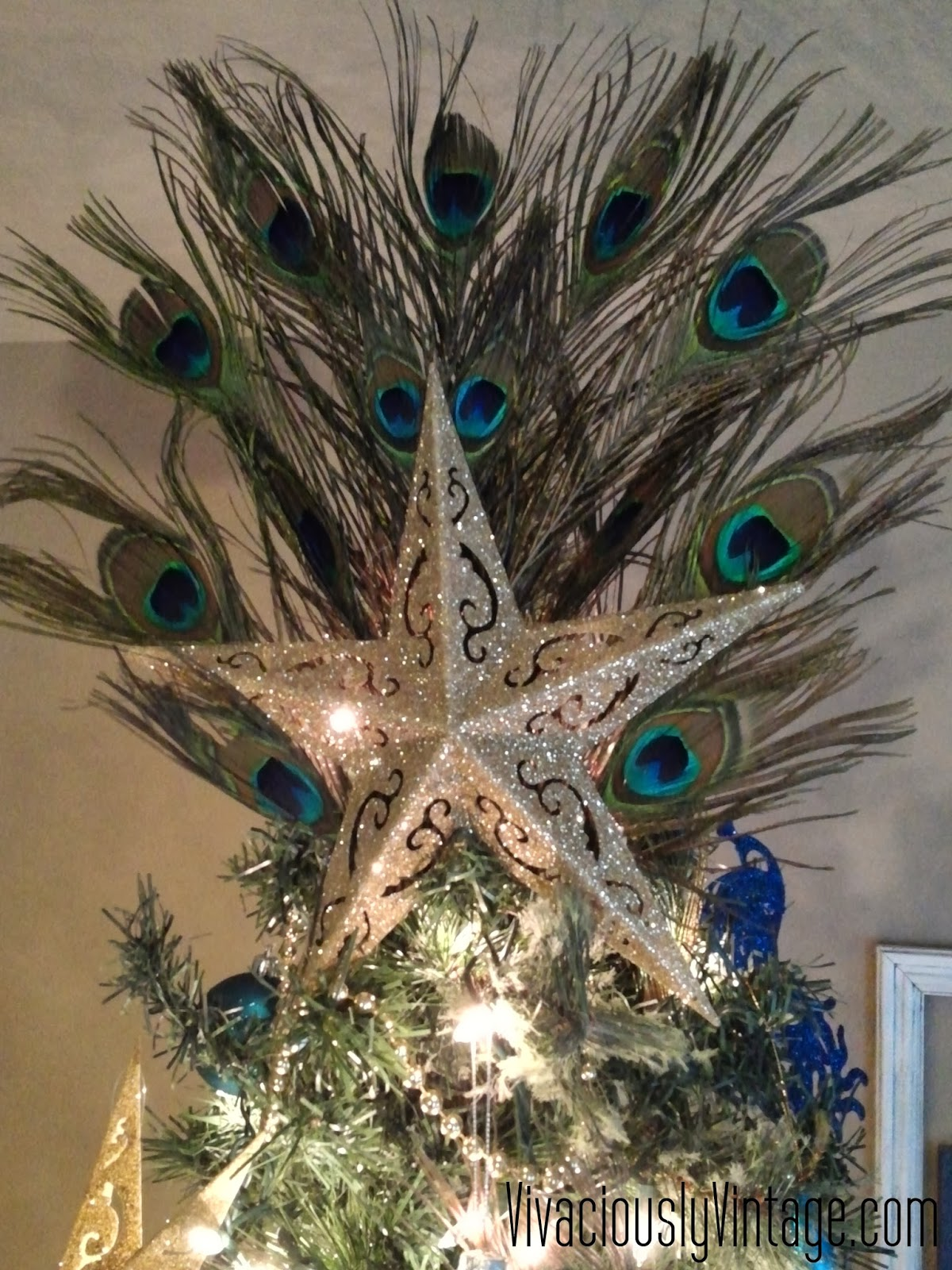 blue tree for love trees christmas decorations pin my decor peacock