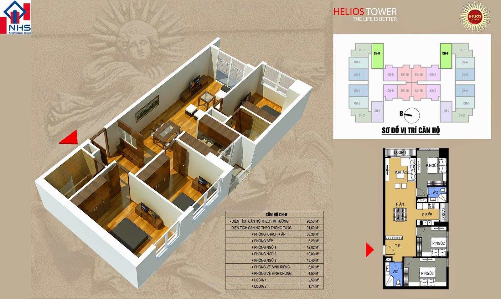 Căn 08 Helios Tower 75 Tam Trinh