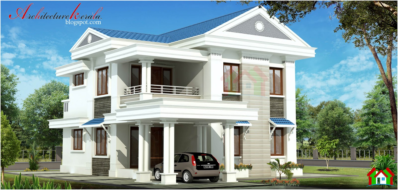 1500 Square Feet 3 Bhk Kerala House Architecture Kerala