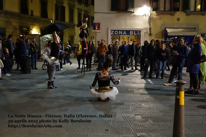 Florence Italy La Notte Bianca White Night Performance Spettacolo